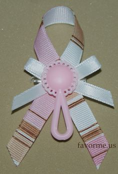 "3"" x 2"" Girl Baby Shower Pin On Favors. Set of 12. Design #17."