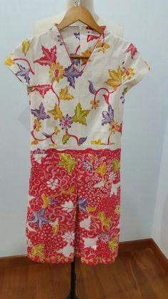Dress made from batik tulis lasem for custom order. Dress is made by Dongengan (Facebook: https://m.facebook.com/dongengan)