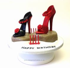 Vintage Sugarpaste Stiletto Shoes Cake