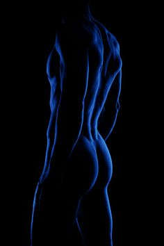 Black and Blue male figure, artistic nude Sexy Cartoons, Silhouettes, Rhapsody In Blue, Art Of Man, Men Art, Hommes Sexy, Art And Illustration, Illustrations, Male Figure