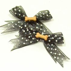 Polka Dot Dog Bows (Multiple colors available) by giveyourheart on Etsy