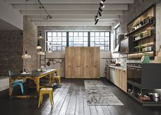 Beautiful Industrial Kitchen Design