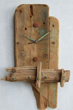 Driftwood Clock, Driftwood Wall Clock, Drift Wood Clock, Bea… – Clock World Driftwood Furniture, Driftwood Crafts, Wooden Crafts, Driftwood Ideas, Diy Crafts, Wall Clock Design, Clock Wall, Diy Clock, Wood Clocks