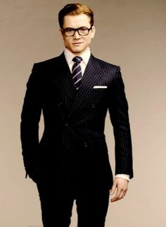 Kingsman is a great crash course in stylish dressing. The clothes are a character in their own right. Best Dressed Man, Sharp Dressed Man, Kingsman Suits, British Style Men, Latest Mens Fashion, Men Style Tips, Suit And Tie, Suit Fashion, Fashion Outfits