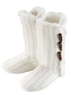 Winter Knitted Slipper Boots