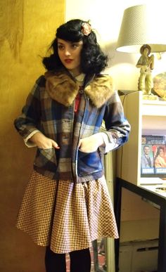 50s Pendleton with fur collar. | via Sweetheart of the Rodeo.