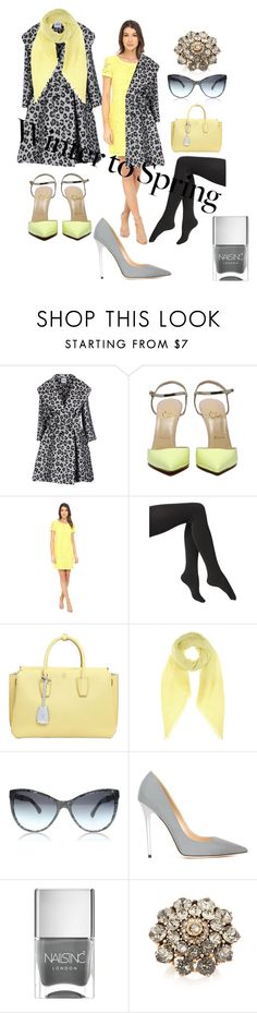 """""""Winter 2 Spring"""" by wee-charlie ❤ liked on Polyvore featuring Moschino Cheap & Chic, Donna Morgan, Via Spiga, MCM, Jardin des Orangers, Jimmy Choo, Nails Inc. and Oscar de la Renta"""