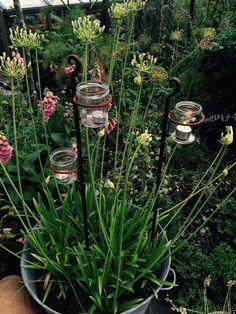 Wrought Iron T-light Holder www.sallybourneinteriors.co.uk