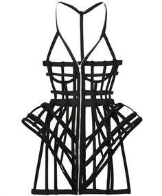 chromat:  lavenderlolitababy:  Babes  the chromat symmetrical cage dress