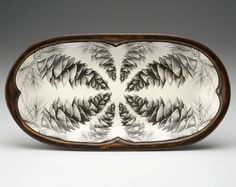 Rectangular Serving Dish: White Pine Cone - Laura Zindel Design