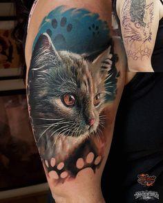 Mini Tattoos, Dream Tattoos, Cover Up Tattoos, Body Art Tattoos, Sleeve Tattoos, Tatoo Cat, 1 Tattoo, Pretty Tattoos, Beautiful Tattoos