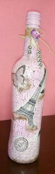 Wine Bottle Corks, Diy Bottle, Wine Bottle Crafts, Decoupage Glass, Recycled Glass Bottles, Jar Art, Wine Decor, Painted Jars, Altered Bottles