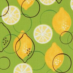 Lemon fabric - may be contemporary but looks retro