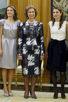 Reina sofia, princesa leticia y Reina rania