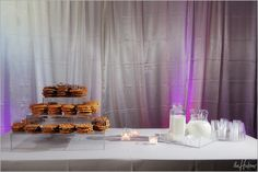 Milk and cookies as a groom's cake: Best idea ever!!! Photo by Sarah.