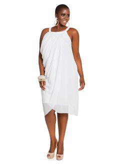Ashley Stewart Drapped Plus Size Dress