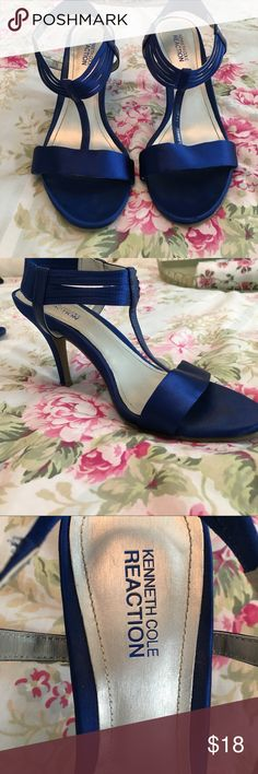 Kenneth Cole heels Royal Blue Royal Blue Satin. 8 MED. Only worn twice. They're comfortable for heels :) Kenneth Cole Reaction Shoes Heels