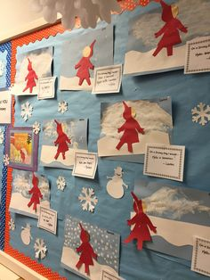"""Great Literacy/Art activity to go along with """"The Snowy Day"""" By Ezra Jack Keats Winter Fun, Winter Theme, The Snowy Day Book, January Crafts, Snow Activities, Winter Art Projects, Kindergarten Activities, Kindergarten Christmas, Preschool Winter"""