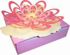 Silhouette Design Store - View Design #40356: floral topped box