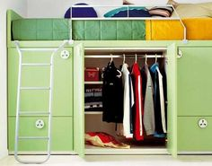 loft bed with closet
