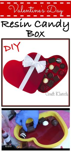 Make a Resin Chocolate Candy Box for Valentine's Day!!!  ❤️❤️❤️   chocolate, chocolate crafts, chocolate heart, diy, diy projects, how to, how to make, howto, resin, resin craft ideas, resin crafts, resin ideas, valentine's day, valentines day crafts,
