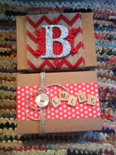 Re-purposed Birchbox boxes make gift giving in style easy peasy!