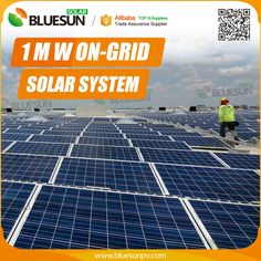 Bluesun panels 5kw solar system information in hindi with battery professional design micro grid 1 megawatt solar system for industrial power supplier ccuart Image collections