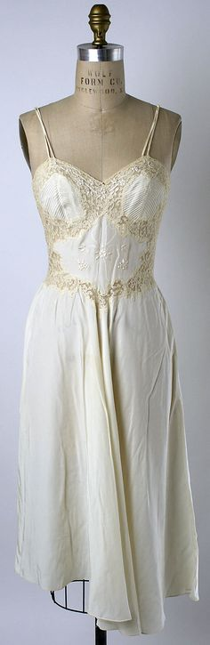 Nightgown Date: ca. 1956 Culture: Cuban Medium: synthetic. Front