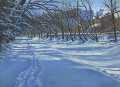 Ponder Goembel's Snowy Canal For Sale @ the 5th Annual Art of Preservation Sept 24th at Kirkland Farm artofpreseration@gmail.com