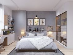 Modern Scandinavian Style Home Design For Young Families: 2 Examples - Care Tutorial and Ideas Bedroom Lamps, Home Decor Bedroom, Modern Bedroom, Light Bedroom, Bedroom Sets, Bedroom Apartment, Scandinavian Style Home, Scandinavian Bedroom, Scandinavian Design