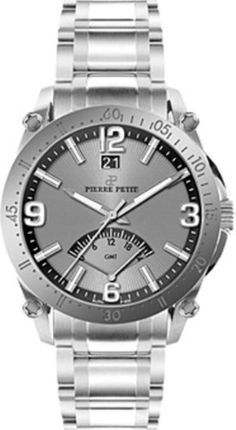 Pierre Petit Men's P-806C Serie Le Mans Stainless-Steel Dual-Time GMT Sunray Dial Watch by Pierre Petit -- Awesome products selected by Anna Churchill