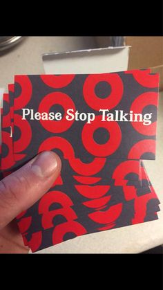 (Love this idea!! Can't stand those who ruin a voyage with their disrespectful chit-chat)--Best way to tell your neighbor to STFU during the show. Includes a handful of cards.