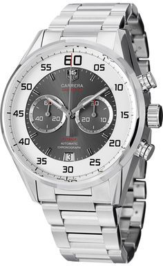 TAG Heuer Men's CAR2B11.BA0799 Analog Display Automatic Self Wind Silver Watch