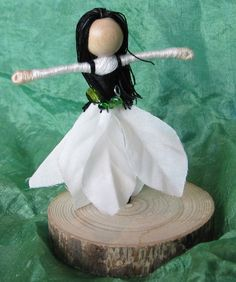 Christmas Flower Fairy  Waldorf Flower by TracysGardenFairies, $17.50