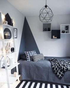 Awesome Deco Chambre Simple that you must know, You?re in good company if you?re looking for Deco Chambre Simple Trendy Bedroom, Modern Bedroom, Bedroom Black, Contemporary Bedroom, Modern Contemporary, Modern Teen Bedrooms, Bedroom Neutral, Bedroom Simple, Boys Bedroom Ideas 8 Year Old