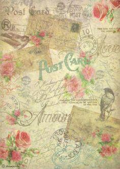 Ricepaper/ Decoupage paper, Scrapbooking Sheets /Craft Paper Vintage Postcards | eBay