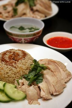 To Food with Love: Hainanese Chicken Rice. One if my most favourites dishes ever. Must try this recipe