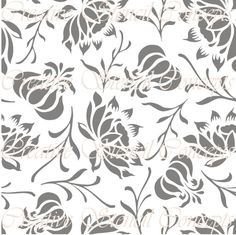 Modern Style Floral Allover Decorative Stencil MULTIPLE SIZES AVAILABLE on Industry Standard 12 Mil Mylar Design 42214576 on Etsy, $14.95