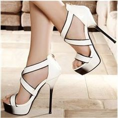 ericdress.com offers high quality  Elegant White Coppy Leather Ankle Strap High Heel Sandals  Stiletto Sandals unit price of $ 100.69.
