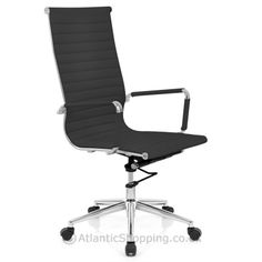 wall-stickers-Metro Eames Style Office Chair Black