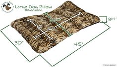 Dimensions of the large pillow dog bed