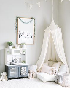 Tip Round Dome Mantle Cotton Tent Bed Canopy for Baby Playroom- 6 colors – Baby Room 2020 Kids Bed Canopy, Baby Canopy, Bed Tent, Canopy Curtains, Baby Playroom, Playroom Decor, Playroom Ideas, Nursery Ideas, Scandinavian Kids Rooms