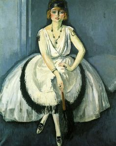 """Kees van Dongen """"Femme a l'Eventail"""", 1920 (The Netherlands, Fauvism, 20th cent.)"""