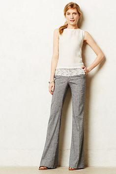 I'm a huge fan of wide leg trousers - even these with the lace detail.