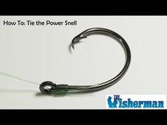 How To: Tie The Power Snell - YouTube Fly Fishing Knots, Catfish Fishing, Surf Fishing, Fishing Bait, Fishing Tips, Snell Knot, Step By Step Instructions, Youtube, Crafts