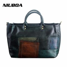 New Arrival Vintage Leather Tote Women Genuine Leather Handbags Ladies  Party Shoulder Bags Top-Handle 4bba01ab36