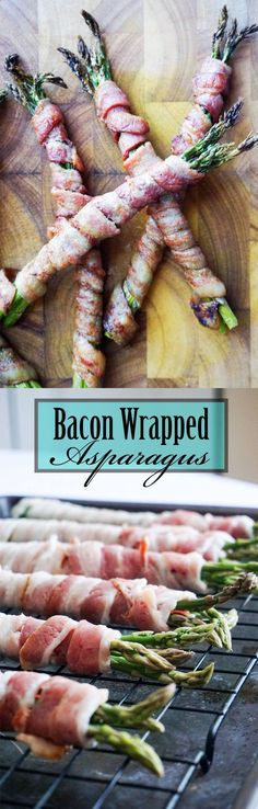 A bundle of asparagus wrapped in thick cut bacon. A bundle of asparagus wrapped in thick cut bacon. Ketogenic Recipes, Low Carb Recipes, Diet Recipes, Cooking Recipes, Game Recipes, Bacon Recipes, Recipies, Bacon Wrapped Asparagus, Low Carb Appetizers