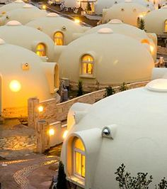 Dome cottages in Toretore Village Sirahama, Wakayama, Japan