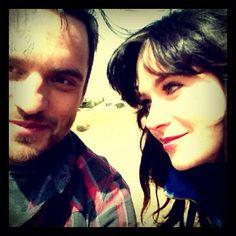 Zooey Deschanel and Jake Johnson shot New Girl in the desert.