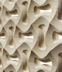 Parametric wood panelling